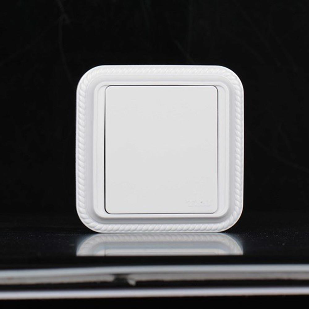 tj天基开关插座 开关面板 经典系列白色 空白面板 麻花边 白板