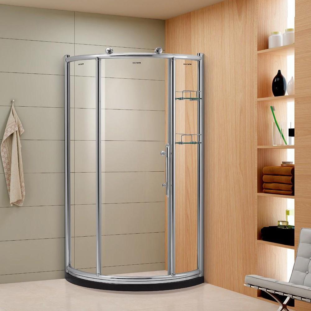 金莎丽淋浴房 全圆形推拉门 8mm全钢化 可定制 900*900*1900
