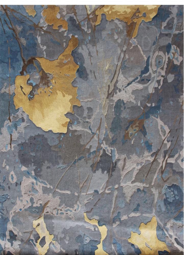 现代简约客厅茶几卧室地毯抽象花卉个性手工剪花地毯